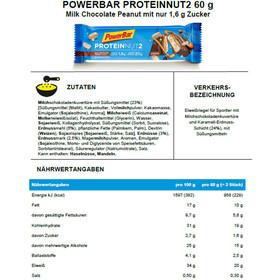 PowerBar Protein Nut 2 Bar Caja 18x2x30g, Milk Chocolate Peanut